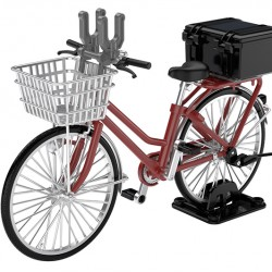 TomyTec 1/12 Military Series Little Armory LM005 School bicycle (for designated defense school) Maroon