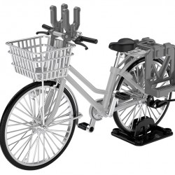 TomyTec 1/12 Military Series Little Armory LM006 School bicycle (for designated defense school) Silver