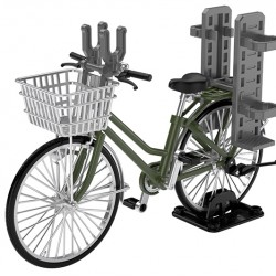 TomyTec 1/12 Military Series Little Armory LM007 School bicycle (for designated defense school) Olive drab