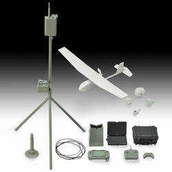 TomyTec 1/12 Military Series Little Armory LD032 UAV Unmanned Spy Plane & Equipment and Materials